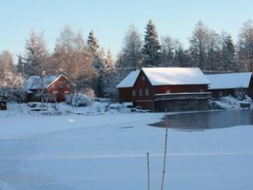 Ferienhaus Mühlhaus Troll am See Vrigstadsån - Ruskensee in Südschweden - Småland