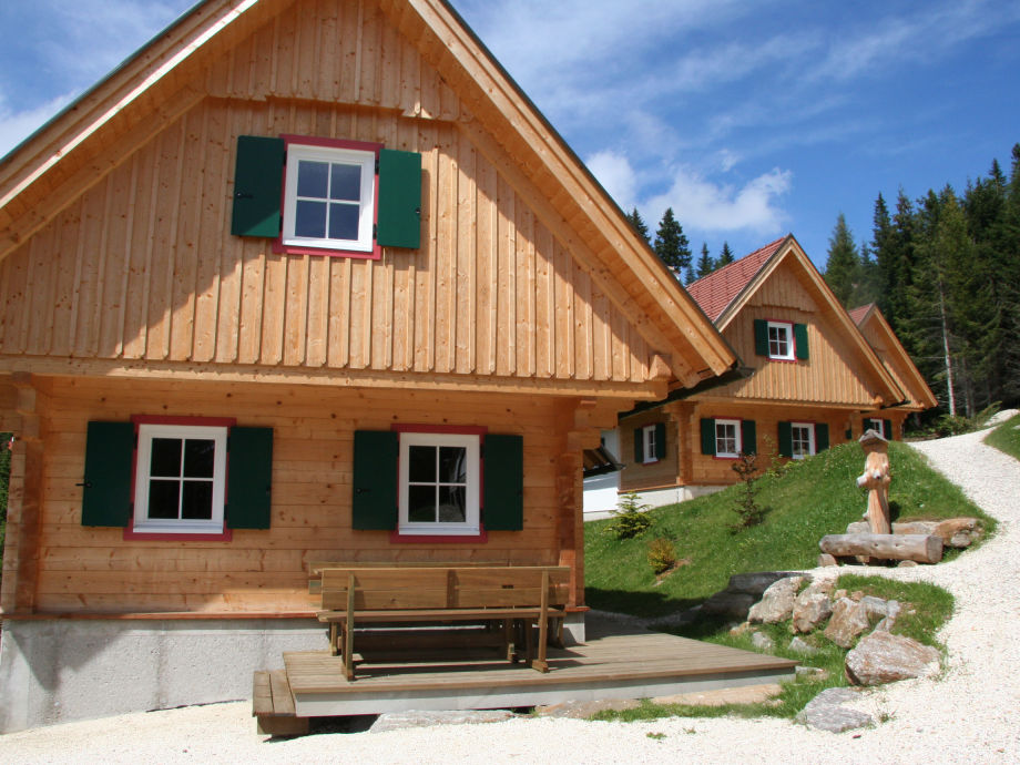 Mountaincabin village at summer