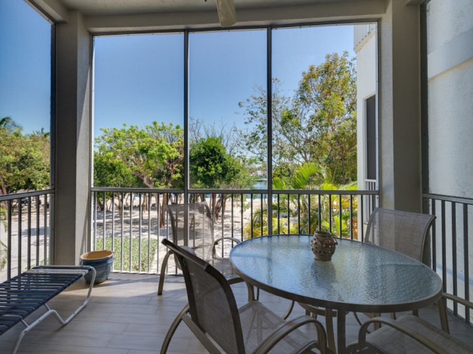 Your screened patio with view