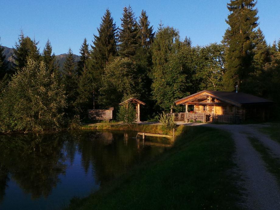 Fischerhütte Sonnenuntergang