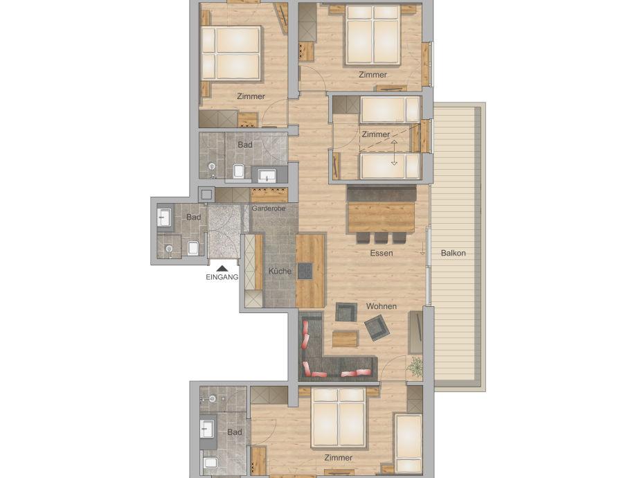 Floor Plan 100 M2 Apartment