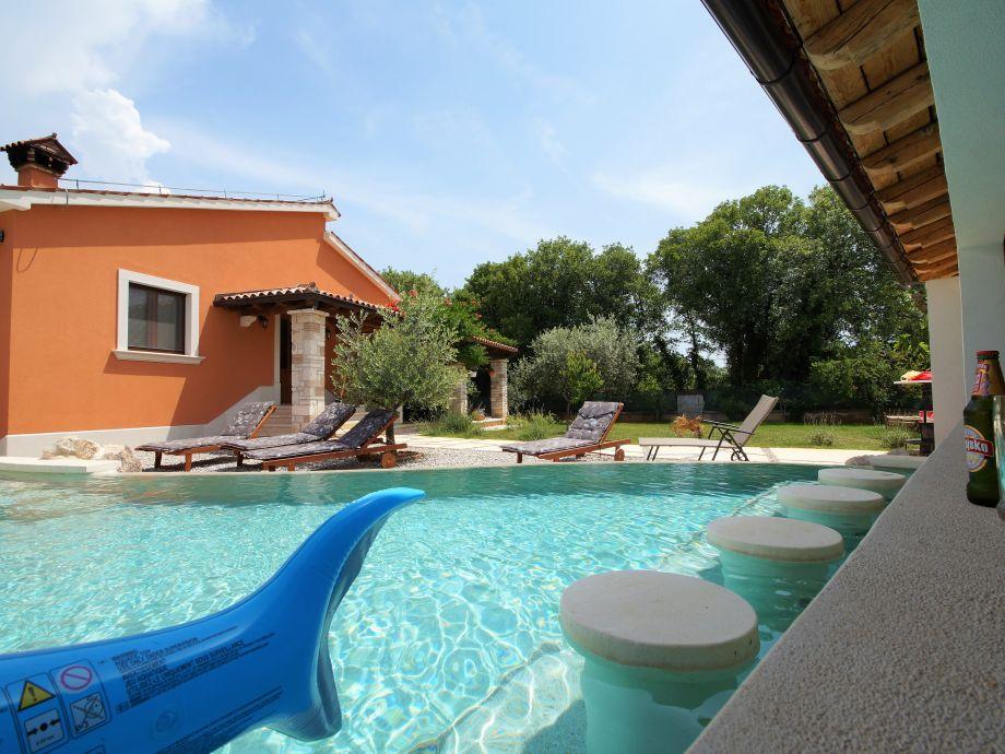 Das Haus und Pool, Hof ist privat und eingezäunt