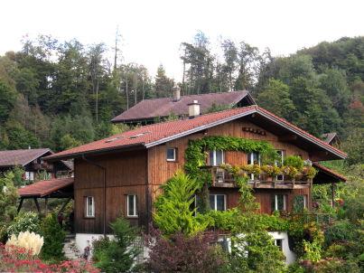Chalet in der Schweizer Alpen