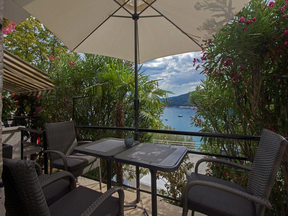 Terrasse mit Meerblick Rabac