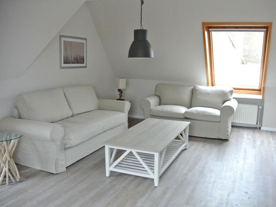 Wohnzimmer der Wohnung Pellworm