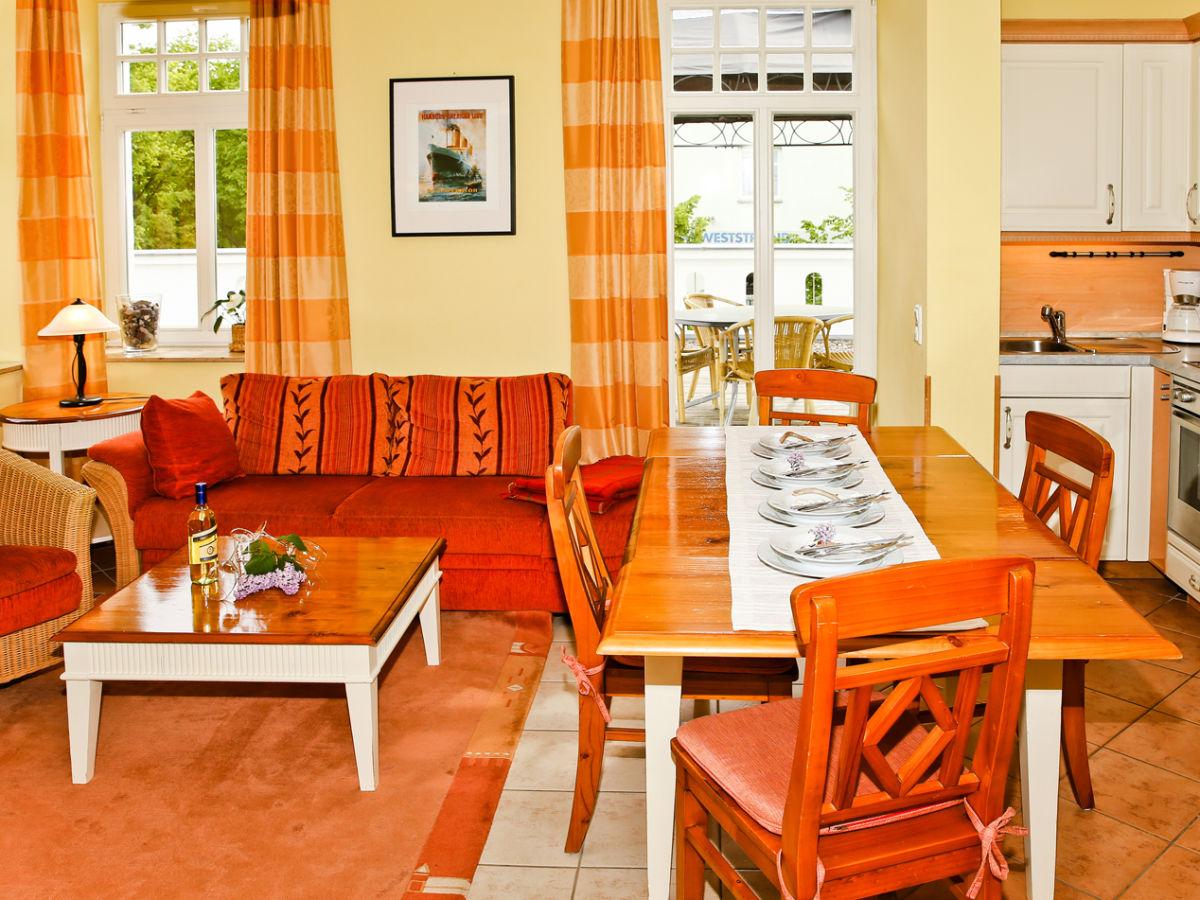 Ferienwohnung terrassenapartment miramare ostsee herr - Traum wohnzimmer ...