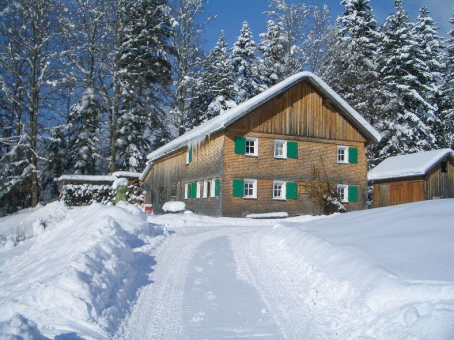 Ferienhütte Gaißweg im Winter