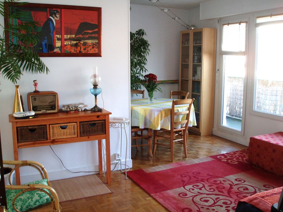 The living-room of the holiday rental