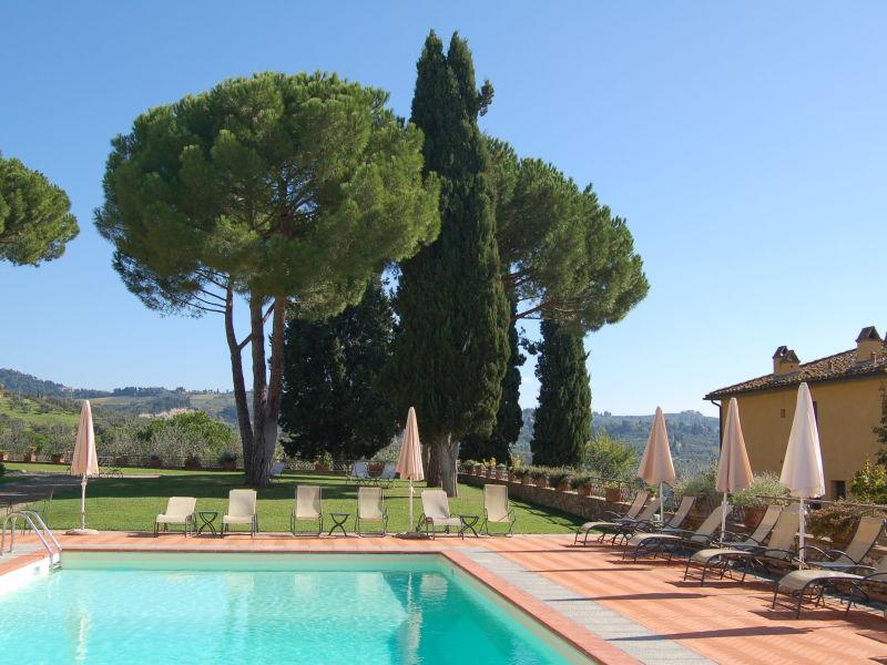 Weingut Tenuta di Sticciano - 4-Zi.-Ferienwohnung mit Pool