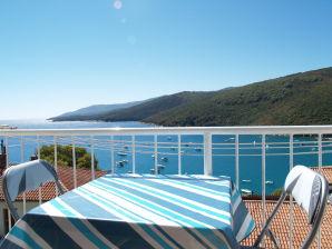 Ferienwohnung mit wunderschönem Meerblick, WiFi, Klimaanlage