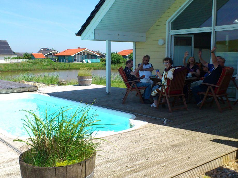 Strandhaus mit Pool und Sauna