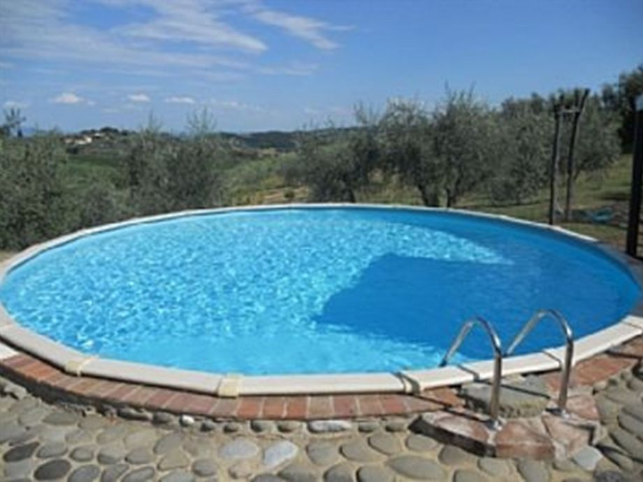 Large 5x5 m pool with view of the olive grove