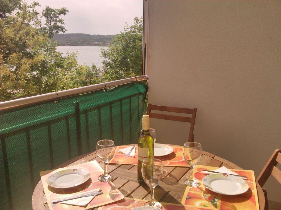 Der Balkon der Ferienwohnung Nr. 5