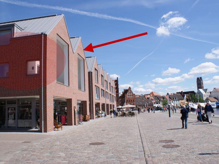 Traumhafte Lage am Alten Hafen von Wismar