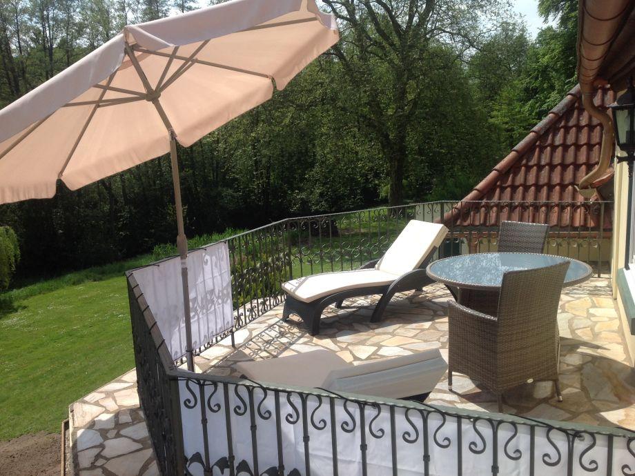 Balkon der Ferienwohnung Eldeblick