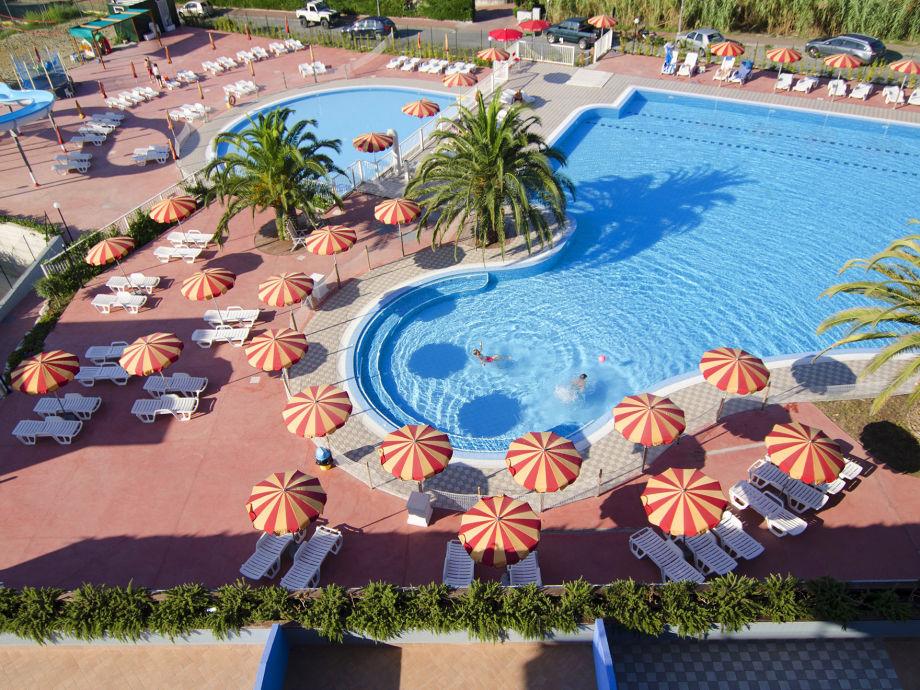 Sicht der Schwimmbäder von oben
