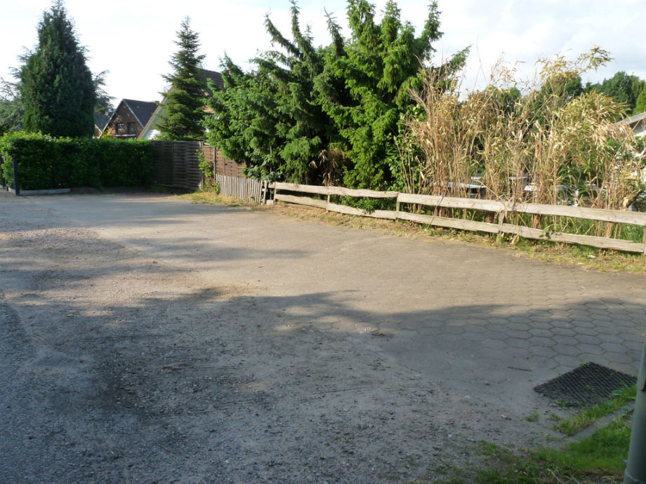 Parking space by the house