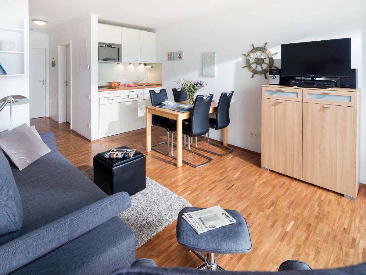 Ferienwohnung viktoriastrasse norderney firma vermietservice krebs frau inga krebs - Wohnzimmer mit kuche ...