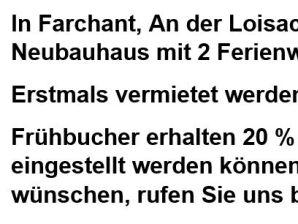 Ferienwohnung Neu ab 01.02.2018 Reiselust