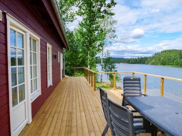 Ferienhaus Viken direkt am See mit Boot