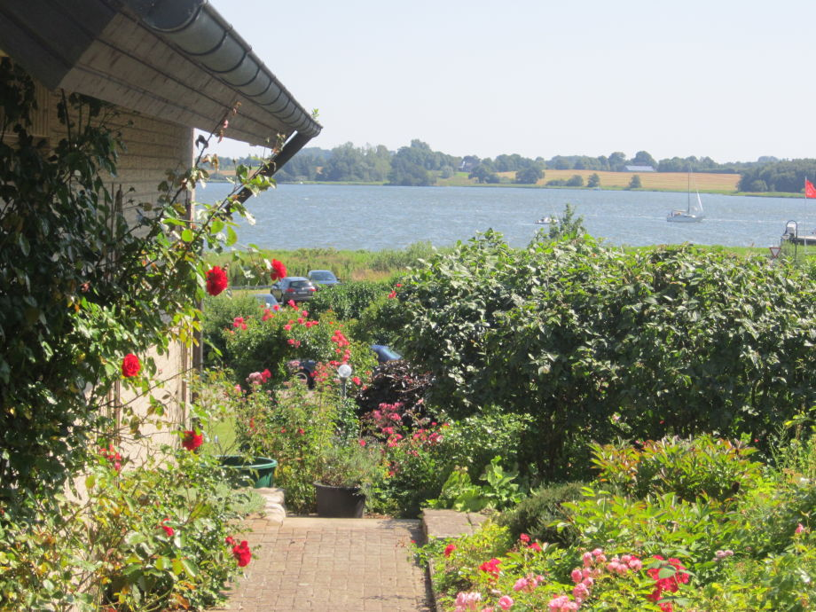View from the house entrance to the Schlei