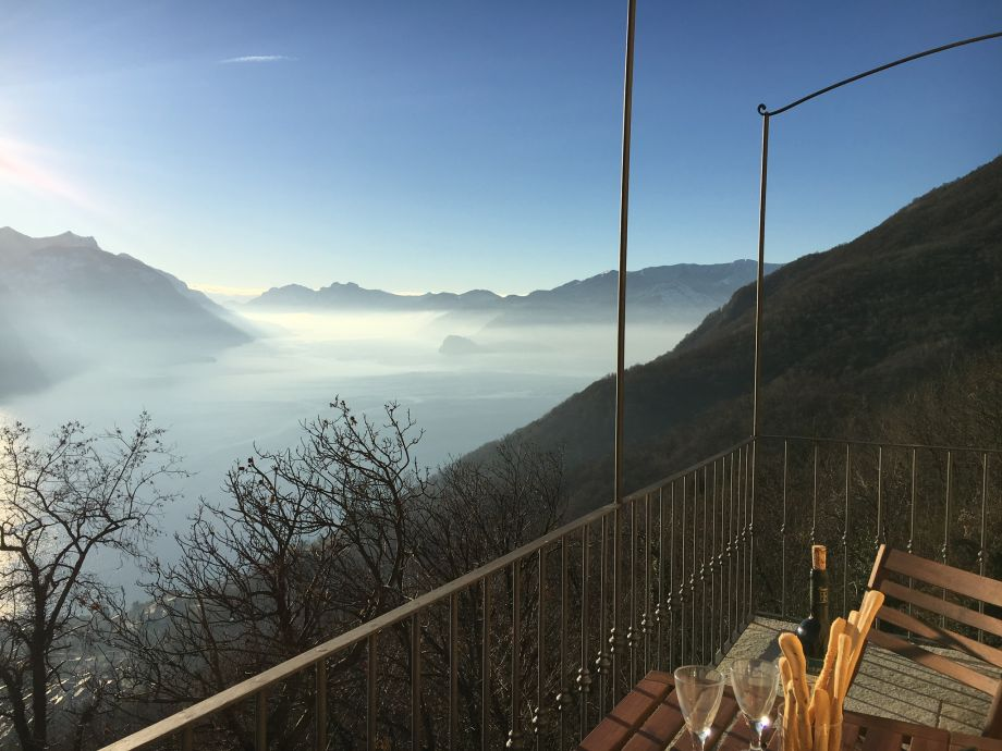Blick vom Balkon Richtung Bellagio
