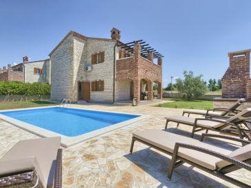 Villa Saša mit privatem Tennisplatz und Pool