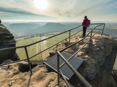 at the foot of the Lilienstein