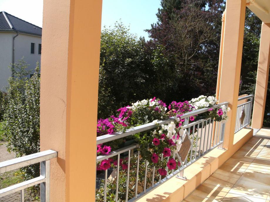 schöne Aussicht vom Balkon