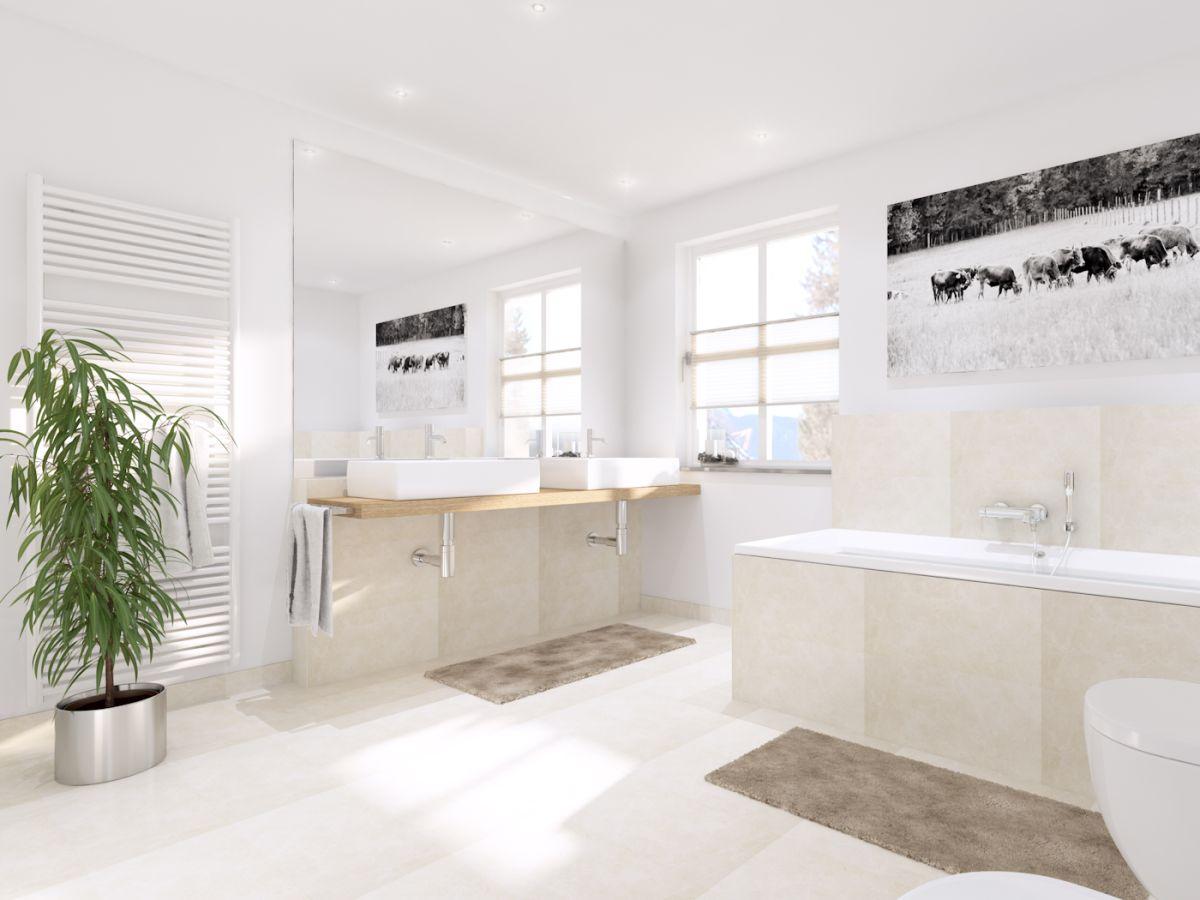 Ferienwohnung neu ab elmau garmisch - Badezimmer mit dusche und badewanne ...