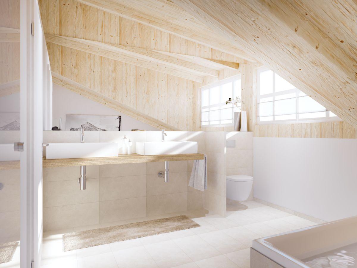 Ferienwohnung neu ab wamberg garmisch - Badezimmer mit dusche und badewanne ...