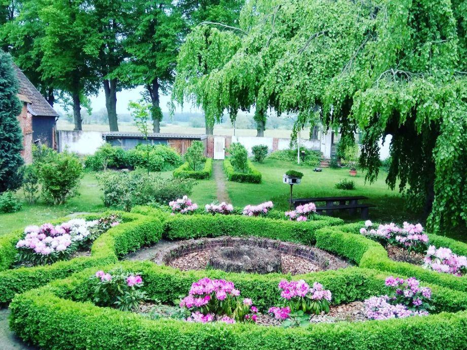 Das ist unser wunderschöne Traumgarten, direkt am Deich