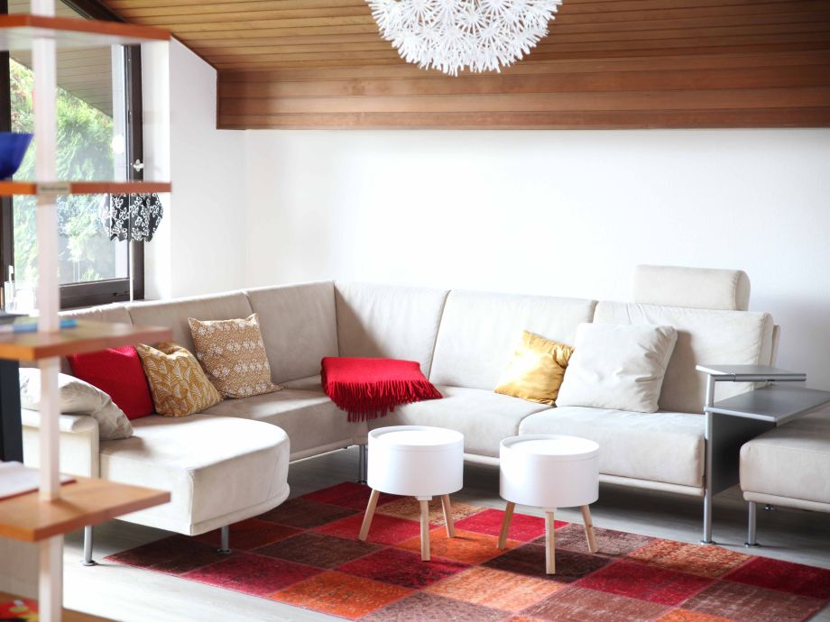 Big living room with huge sofa for your relaxation