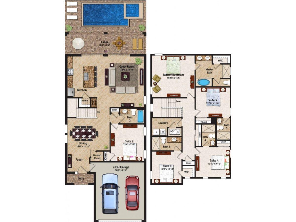Ferienhaus mit 5 Schlafzimmer, Kissimmee, Firma LRR - Frau ...