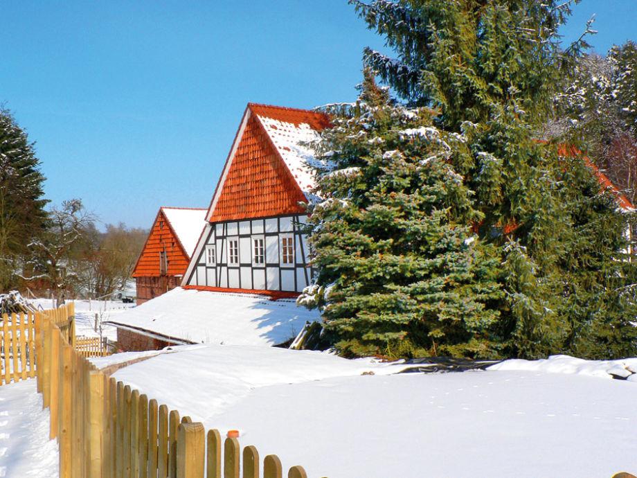 Die Historische Mühle im Winter