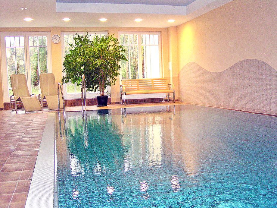 Hauseigenes Schwimmbad im Wellnessbereich (gratis)