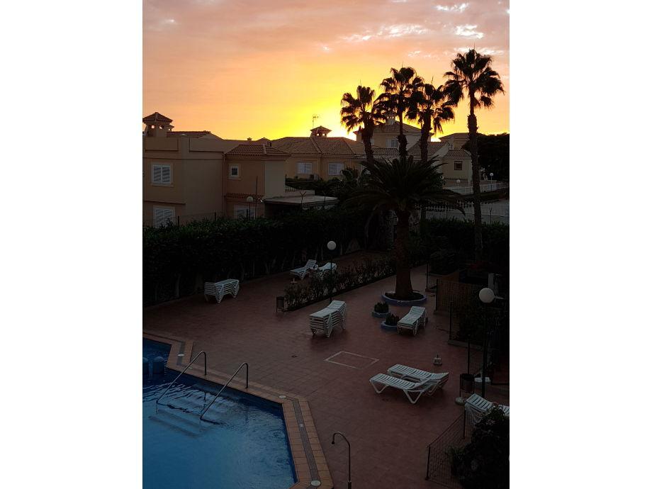 Sunset vom Apartment aus gesehen