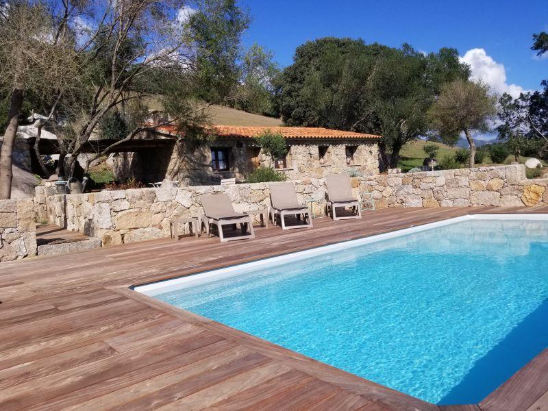 Ferienhaus Porto Vecchio Schafstall Stil Haus mit Pool