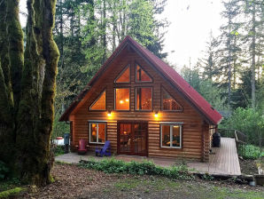 Holiday apartment Cabin #21 – REAL LOG CABIN, BBQ, PETS OK, SLEEPS-6!