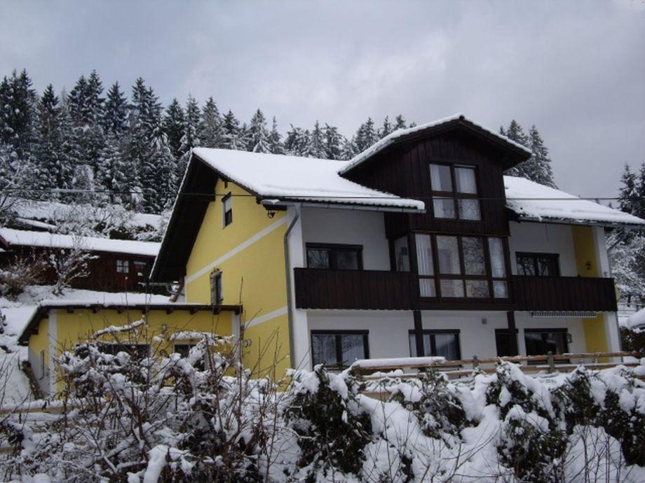 Haus im Winter FeWo  Herzog