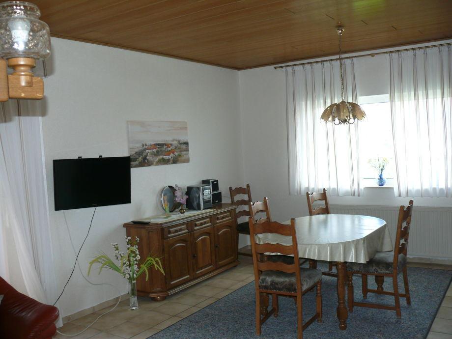 Wohnzimmer, der Essbereich