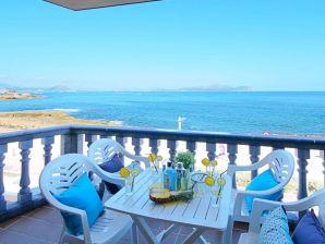 Ferienwohnung Baulo Mar direkt am Meer mit Meerblick