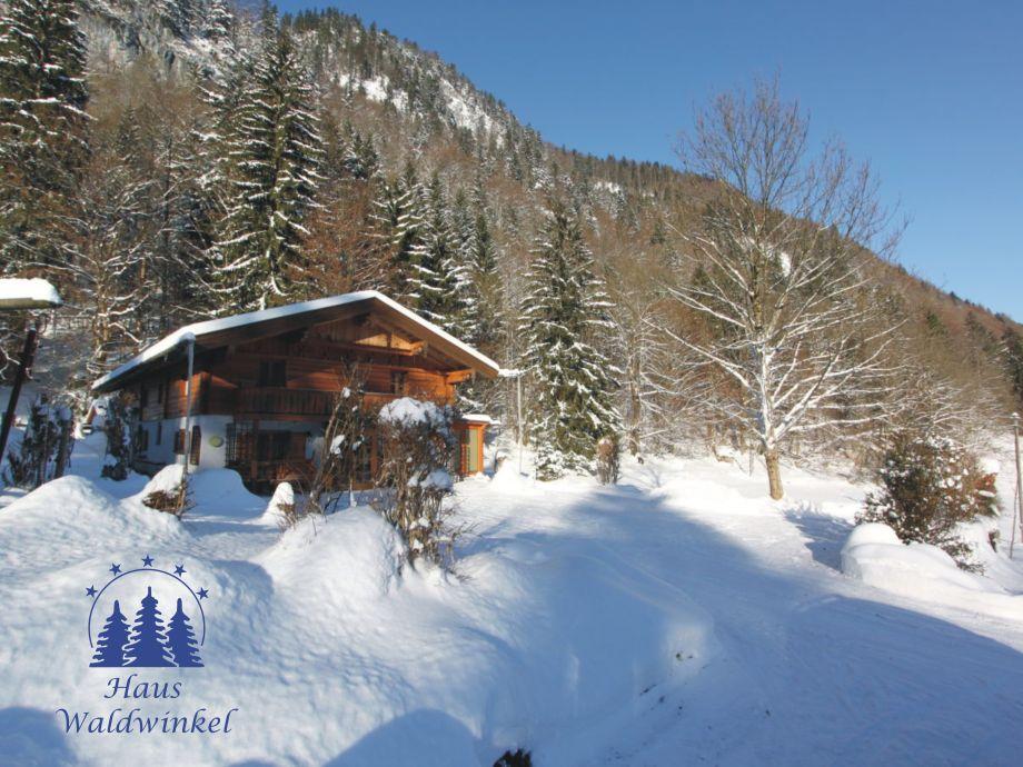 Winter Haus Waldwinkel