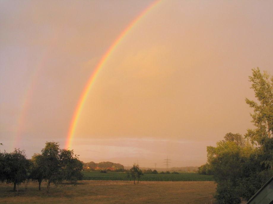 Regenbogen über Dem Schwarzwald · Blick Vom Schlafzimmer