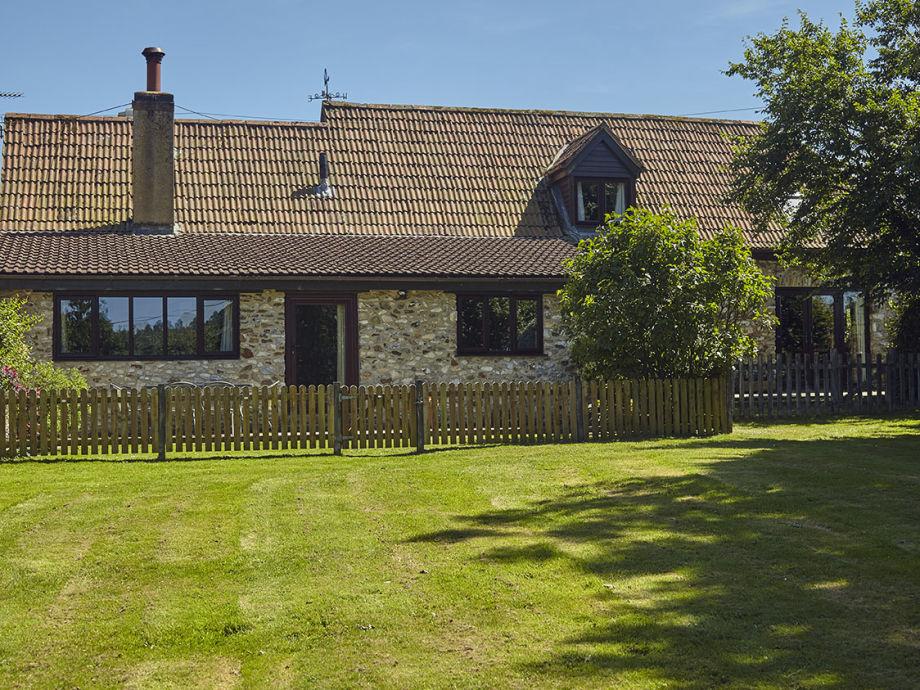 Weathervane Cottage on left