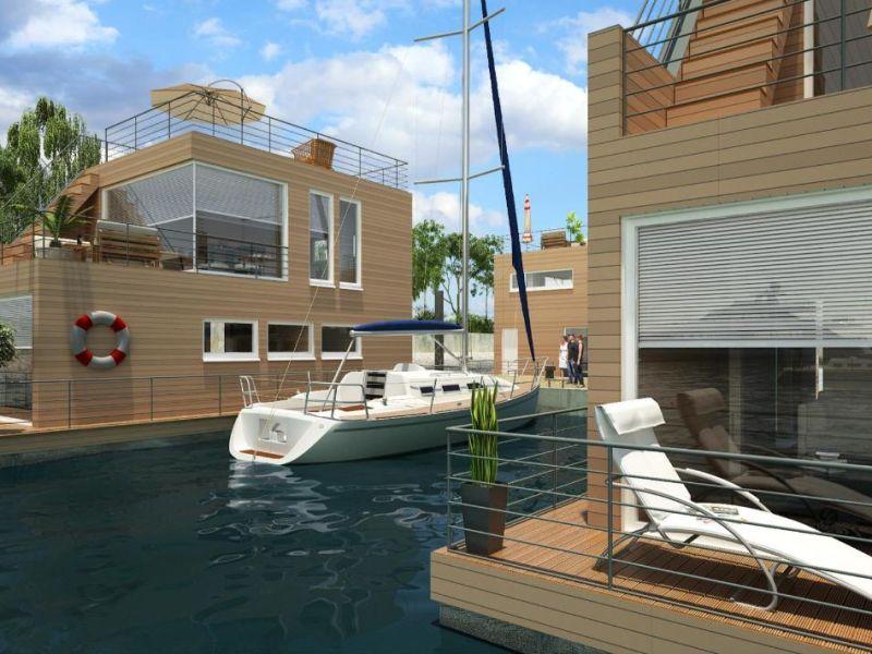 Hausboot Kleine Insel