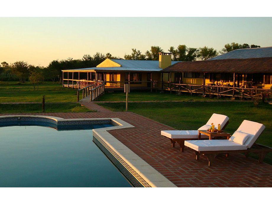 Lodge und Schwimmbad
