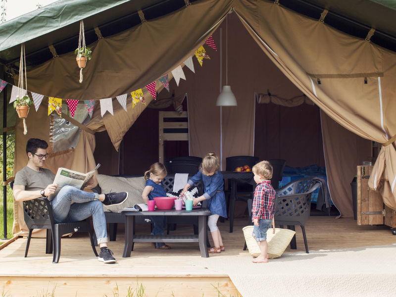 Residenz Camping Tikvah im Glamping Zelt