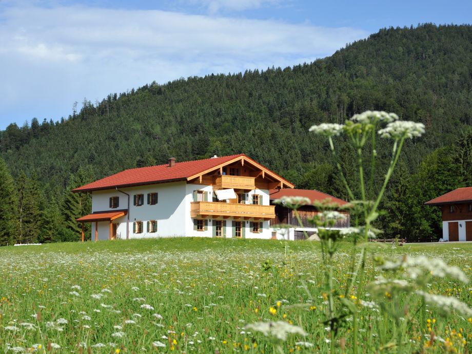 Gästehaus im Sommer