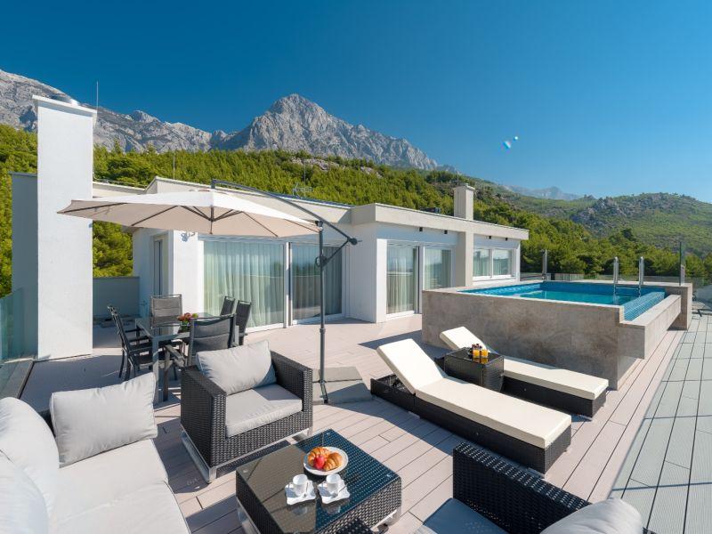 Ferienwohnung Promajna Villa 01 - Apartment 5 (Penthouse) mit eigenem Pool (4+2)